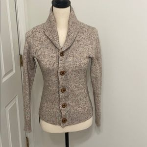 Express marled shawl collar cardigan with buttons